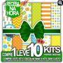 Kit Imagens Jpg Para Criar Arte Personalizada Festinha Verde