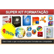 Kit 9 Dvds P/formatação Profissional Sistemas Programas+nero