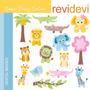 Kit Scrapbook Digital Animais Da Selva Imagens Clipart Cod43