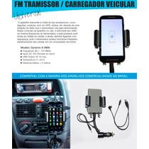 Transmissor Fm Carregador Celular Allkit Suporte Veicular