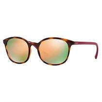 Óculos De Sol Vogue Tartaruga Lente Rosa Espelhada
