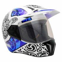 Capacete Moto Bieffe 3 Sport Maori Azul Lançamento Bieffe