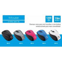 Mouse Sem Fio 1200dpi Usb Nano 2.4ghz Multilaser | 5 Cores!!