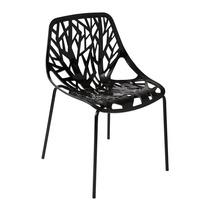 Cadeira Consuelo Polipropileno Cozinha Base Aço Preta