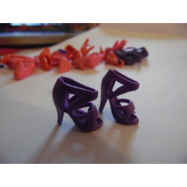 Sapato De Salto Sandália Para Barbie Modelo 4 Roxo Importado