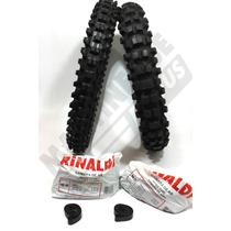 Kit Pneu 400-18 + 300-21 Sh31 Rinaldi Xl Nx Xtz Trilha Cross