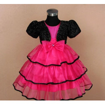 Vestido Infantil Festa/barbie Noite 3 Saias De Organza