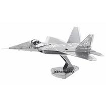 Mini Quebra Cabeça 3d De Metal - Avião - F-22 Raptor