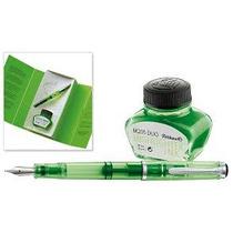 Caneta Tinteiro Pelikan M205 Green Duo Highlighter -demonst