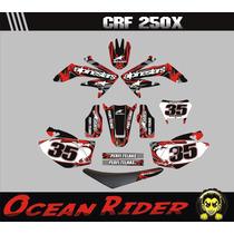 Kit Adesivos Completo + Capa Crf 250-moto-trilha Ocean Rider