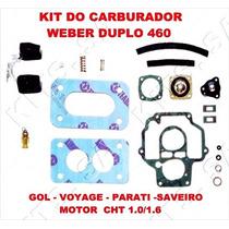 Kit Reparo Carburador Gol/voyag/par Cht Gas Weber Duplo 460
