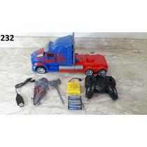 Caminhao Carro Transformers Controle Remoto 2.4ghz Robo Som