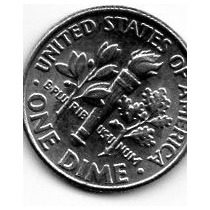 Moeda Eua 10 Centavos Dolar 1967