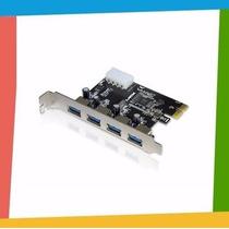 Placa Pci-express (pci-e) X1 Usb 3.0 (5gbps) 4 Portas