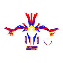 Kit Adesivo Completo Red Bull Adavance Crf 230 2008 - 2014