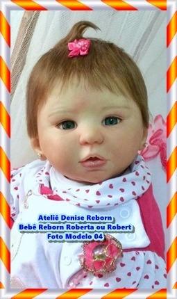 b12b29882 Boneca Bebê Reborn Roberta Ou Robert Kit Kylin Corpo Tecido R 2745 ...