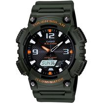 Relógio Casio Aq-s810 Tough Solar Verde 5alar 200m Aqs810