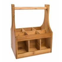 Porta Talheres Facas De Bambú Para Decoração Cozinha Rústica