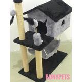 Arranhador Para Gato Casa Com Rede Pena Bola Varias Cores 1