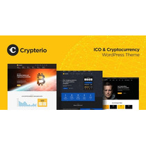 Crypterio 1.8 Bitcoin, Ico And Cryptocurrency Wordpress Them