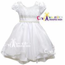 Vestido Festa Infantil Dama De Honra/batizado Com Tiara