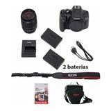 Canon Rebel T7i C/ 18-55mm +64gb + Bolsa + Tripé+ Bat. Extra