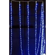 Cortina Com 320 Leds Azul - Com Pisca Sequencial 3 X 2metros