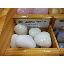 Pedra Do Signo Libra - Quartzo Branco Natural Rolada / 2cm