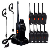 Kit 10 Rádios Comunicador Baofeng 777s Walktalk Frete Gratis