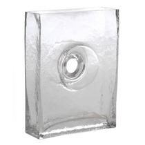 Vaso Retangular - Cento Vazado - Transparente Em Vidro