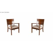 Cadeira Decorativa Cípris Kit Com 02 - Mobillare