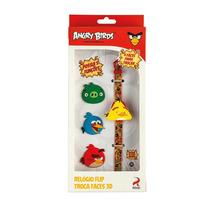 Angry Birds Relógio Flip Troca Faces - Fun