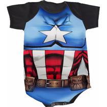 Body Capitão América (bori,body De Bebe,body Infantil)