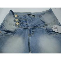 Calça Jeans Cintura Alta Strech Elastano Estilo Pit Bull