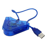 Adaptador Usb Duplo P/ Controles Ps2 E Ps1 Ligue No Pc E Ps3