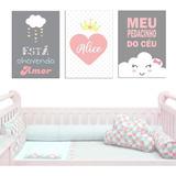 Kit 8 Placas Quadros Decorativos Infantil  P/ Bebê Kids