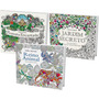 (promoção) Kit 3 Livros Colorir Anti stress Terapia Arte