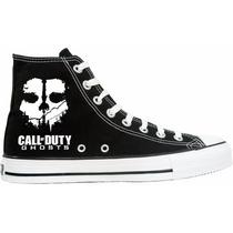 Tênis Call Of Duty All Star Converse Cano Alto Lindissímo !