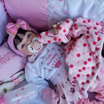 Bebe Reborn Menina Bebê Princesa Morena+bolsa Maternidade