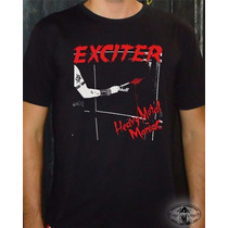 Camiseta Exciter Heavy Metal Maniac Básica Unisex-baby Look