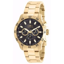 Relógio Invicta Specialty 21506 Banhado A Ouro 18k
