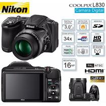 Câmera Digital Semi-profissional Nikon Coolpix L830 Com 16mp