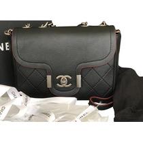 3083e2825 Bolsa Chanel Archi Chic Flap Calfskin Original Oportunidade