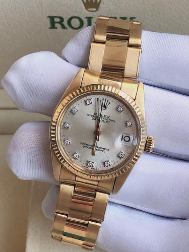 cda2a307188 Rolex Datejust 31mm Todo De Ouro Amarelo Com Diamantes!!!