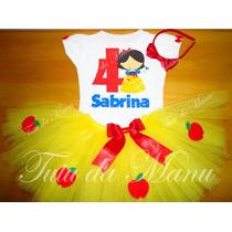 Fantasia Tutu Infantil Personalizada Branca De Neve