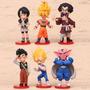 Kit Dragon Ball 6 Pcs Goku Gohan Satan Vegeta Videl Dabura