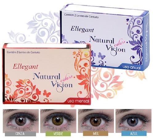 cad93435dcf23 Lentes De Contato Color Mel Natural Vision Mensal Ellegant