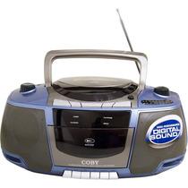 Rádio Gravador Portátil Coby Estéreo Cd Player Am/fm Azul!!!