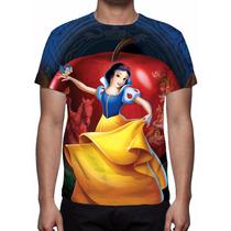 Camisa, Camiseta Disney Branca De Neve Mod 02