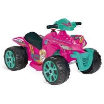 Quadriciclo Elétrico Infantil Barbie 6v Menina Bandeirante